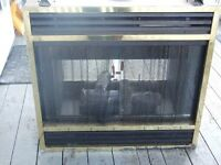 DOUBLE SIDED NATURAL GAS/PROPANE FIREPLACE INSERT;
