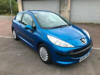 56 reg Peugeot 207 1.4 16v S 3 Door Metallic Miami Blue