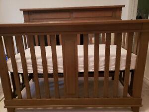 Playpen, solid wood crib, baby bath