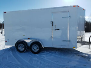 New 2019 7x15,Tandem V-Nose Cargo Trailer 7 8 10 12 14 16 18
