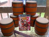 Donkey Konga 2 pour/for Nintendo Gamecube (& Wii) + Bongos