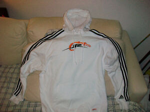 Adidas Hoodie Sweatshirt - MENS MEDIUM - WHITE