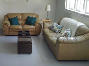 Couch, Love Seat, and End Table - MUST GO