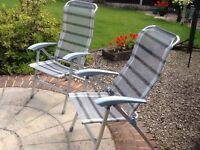 Garden chairs, set of 4