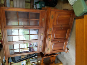 SOLID WOOD DINING HUTCH