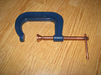 Gray C-Clamp # 403 / Tige & Embout Brass 3 Po.