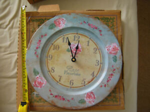 Rose Fleuriste (Paris) floral shop antique plate clock replica
