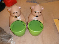 A PAIR OF BEAR - PLANTERS !!