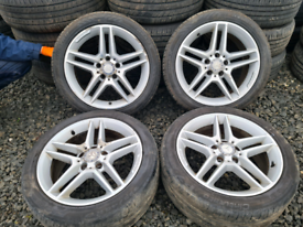 "17"" Mercedes c class Amg sport genuine alloy wheels and tyres"
