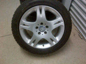 C-Class OEM Mercedes Benz Rims and used Dunlop winter tires