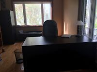 Must sell!! desk, cabinet & credenza