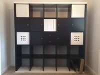 KALLAX shelving Unit 5x5 Black/white Accent 1.8m x 1.8m