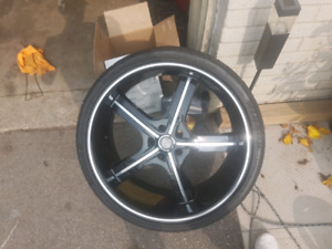 "22"" Rims for sale w/tires 5x114.3"