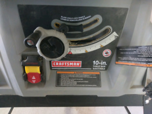 Craftsman 10 In. 15 Amp Table Saw 27831 Used ONCE ONLY