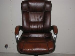 Leather office chair - Chaise de travail cuir