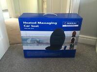 Heated massaging car seat