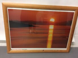 Sunset picture and frame