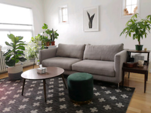 "Structube ""Carine"" light grey 3 seater couch"