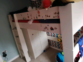 Steens high sleeper bed (stickers removed)