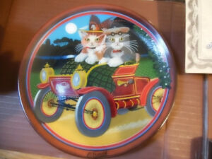 '' IN MY MERRY OLDSMOBILE '' CATS PLATE COLLECTIBLE