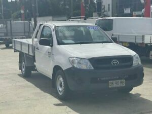 2011 Toyota Hilux TGN16R MY11 Upgrade Workmate White 5 Speed Manual Cab Chassis Clyde Parramatta Area Preview