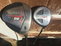 Golf clubs Titleist 907 D2 driver and Titleist 14.5 fairway wood