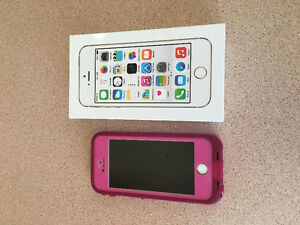 iPhone 5S with life proof case/charger