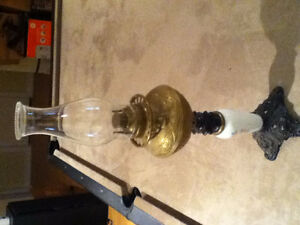 Antiques Vintage Oil Kerosene Lamp OBO Reduced to 100 from 175
