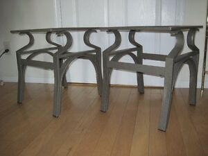 END TABLES  -  GLASS TOPS    - ASKING $35.00 -  O.B.O.