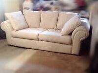 Beautiful Cream Couch and Love-Seat