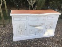 Large white painted French sideboard