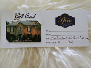 The Spa at Ancaster gift card $145 value