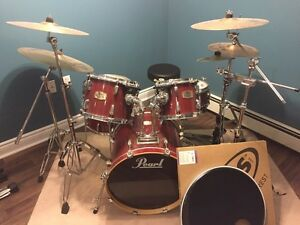 Pearl ELX Export Series Drum Set, Bags, Mics! $1200 obo