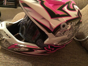 Womens Zox Ltd Ed. Pink Helmet with Pink Fox Goggles Brand New X