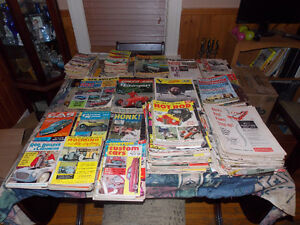 collection of 50's and 60's car magazines
