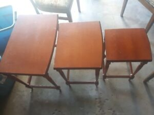 Two Nesting Table Sets