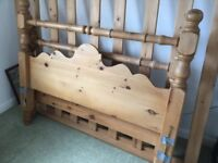 Solid pine queen size bed
