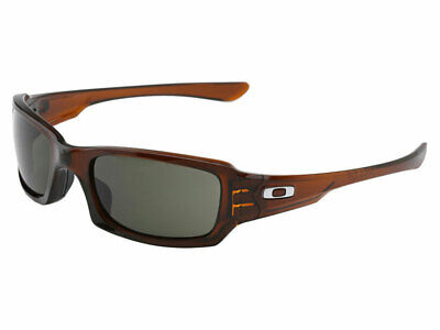 Oakley Fives Squared Sunglasses OO9238-02 Polished Rootbeer/Dark Grey