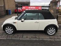 2008 MINI COOPER CONVERTIBLE, 1 YEAR MOT, WARRANTY, NOT GOLF A3 1 SERIES FOCUS POLO