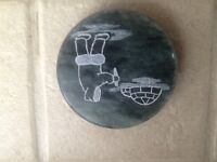 Handcrafted First Nations Soap Stone paperweight - Blind River