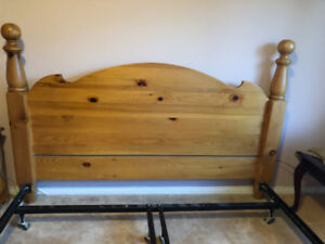 King size headboard, bed rails and matching dresser