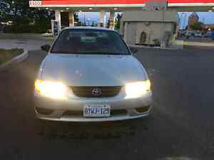 2000 toyota corolla CE with CERTIFY&EMISSION Second Owner