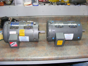 2 ELECTRIC MOTORS FOR SALE OR TRADE 1  1/2 HP