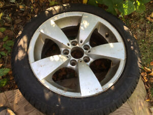 BMW OEM WHEELS and Dunlop Wintersport tires PRCE REDUCED!!