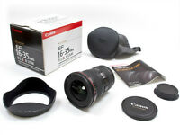 new canon EF 16 35 2.8 L II USM ultra wide angle lens in box