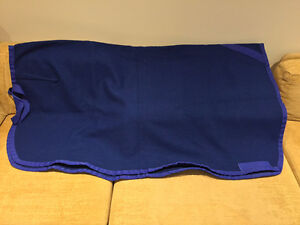 Equestrian Royal Blue Wool Quarter Sheet - Large