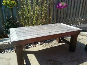 Outdoor Harvest Table - Weathered