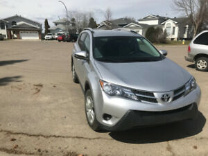 2014 Toyota RAV4 LE AWD,  low mileage, silver, one owner.