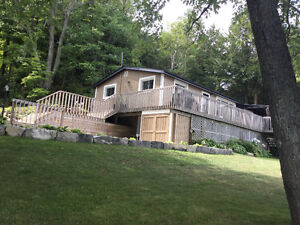 Year Round Waterfront Home With 5 bay garage On Horseshoe Lake
