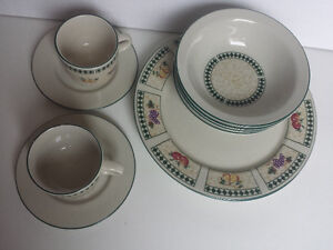 Dishes, Bowls and Cups set for 2 people, Newcor Stoneware Edmonton Edmonton Area image 2